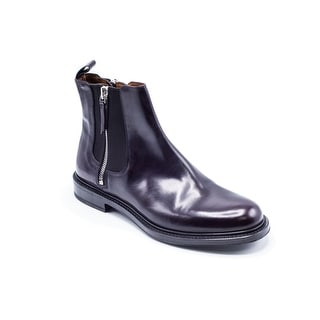 Givenchy Men's Dark Purple Patent Ankle Boots