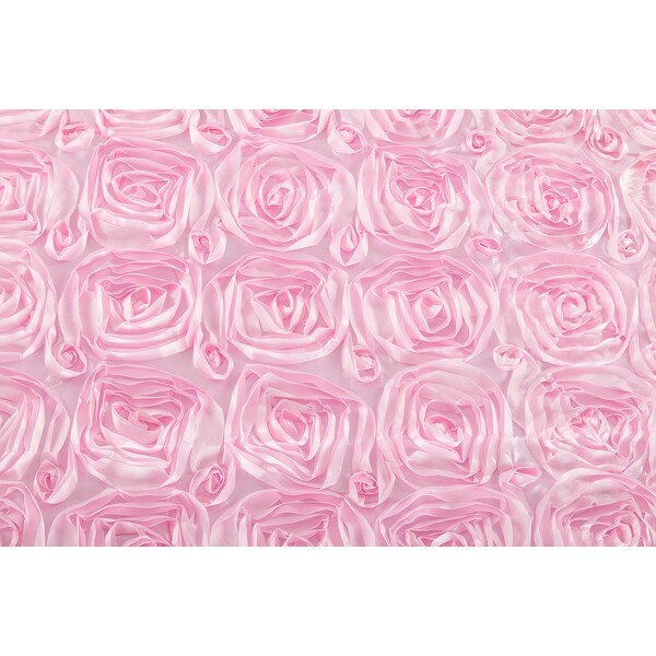 51 inch by 10 yards Material: 100% Polyester Satin Rosette Fabric Roll - Medium Pink