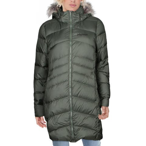 Marmot Womens Montreal Coat Winter Quilted - Crocodile - L