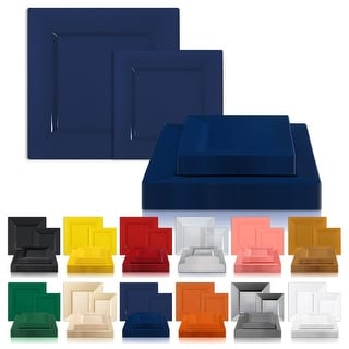 Link to Modern Solid Square Disposable Plastic Plate Packs - Party Supplies Similar Items in Dinnerware