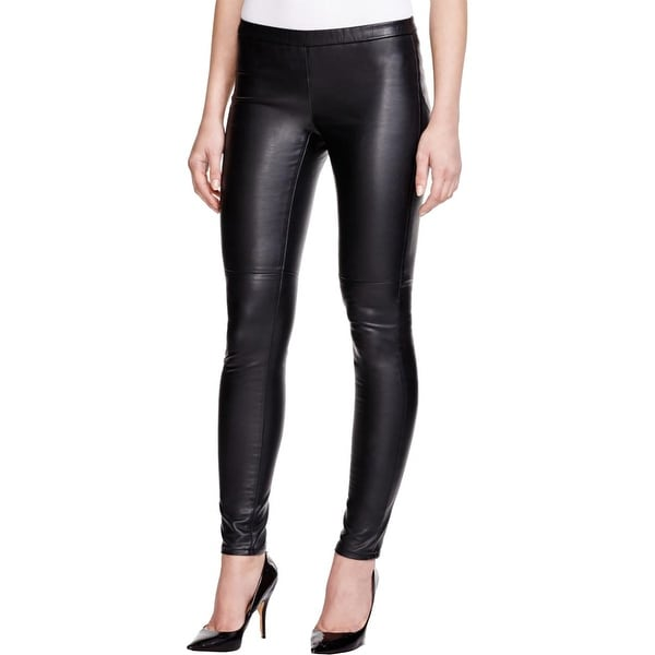 MICHAEL Michael Kors Womens Leggings Faux Leather Pull On