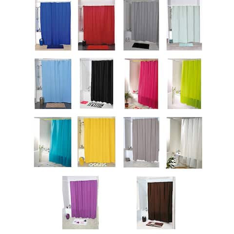 "Extra Length PEVA Bathroom Shower Curtain 71""L x 79""H"