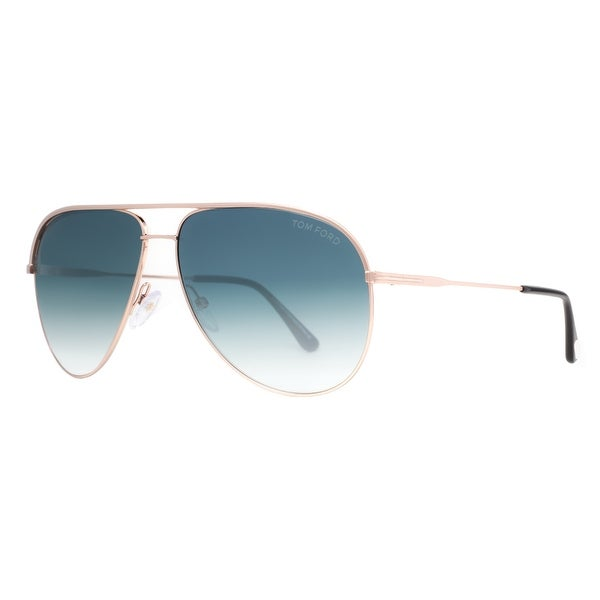 e142e2a07b Tom Ford Erin TF 466 29P Gold Blue Gradient Aviator Sunglasses - Matte Gold  - 61mm