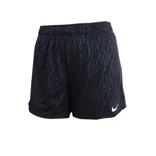 Nike Women's Dry Logo-Print Training Shorts (XL, Black) - Black - XL