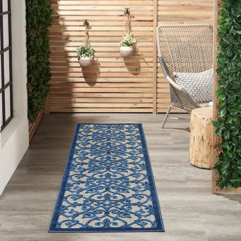 Nourison Aloha Transitional Indoor/Outdoor Damask Rug