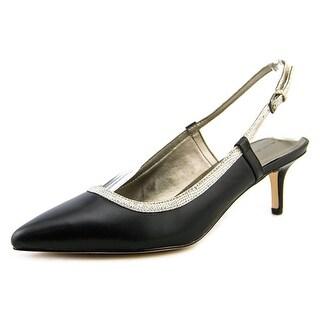 Tahari Riri Pointed Toe Leather Slingback Heel
