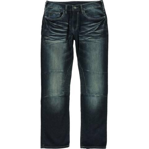 Buffalo David Bitton Mens Evan-X Slim Straight Skinny Fit Jeans, blue, 33W x 30L - 33W x 30L