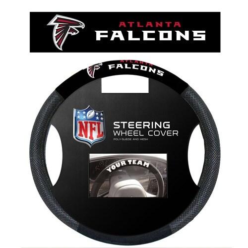 """Fremont Die Inc Atlanta Falcons Poly-Suede Steering Wheel Cover Steering Wheel Cover"""