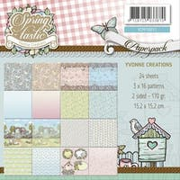 """Yvonne Creations Double-Sided Paper Pack 6""""X6"""" 24/Pkg-Springtastic, 16 Designs"""