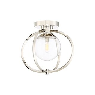 """Craftmade 45551 Piltz Single Light 14-1/2"""" Wide Semi Flush Globe Ceiling Fixture with Clear Glass Shade (2 options available)"""