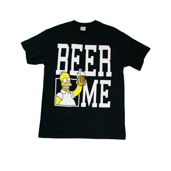 Shop The Simpsons Homer Beer Me Men s T-Shirt - Free Shipping On Orders  Over  45 - Overstock.com - 18281021 6fa6240c59e2
