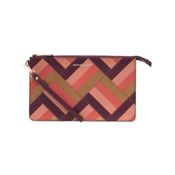 Michael Kors Womens Daniela Clutch Wallet Leather Patchwork - Small