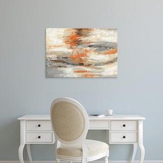 Easy Art Prints Silvia Vassileva's 'Golden Dust Crop Orange' Premium Canvas Art