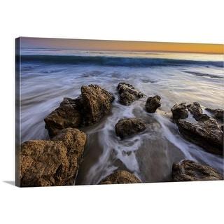 """Rock beach"" Canvas Wall Art"