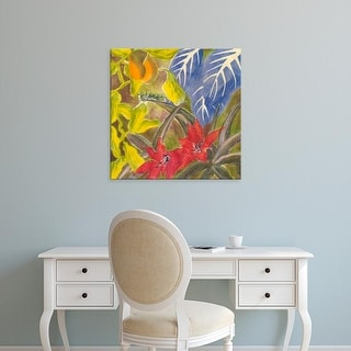 Easy Art Prints Carolyn Roth's 'Tropical Monotype I' Premium Canvas Art