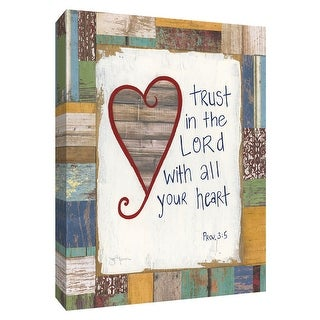 "PTM Images 9-148569  PTM Canvas Collection 10"" x 8"" - ""Trust in the Lord"" Giclee Sayings & Quotes Art Print on Canvas"
