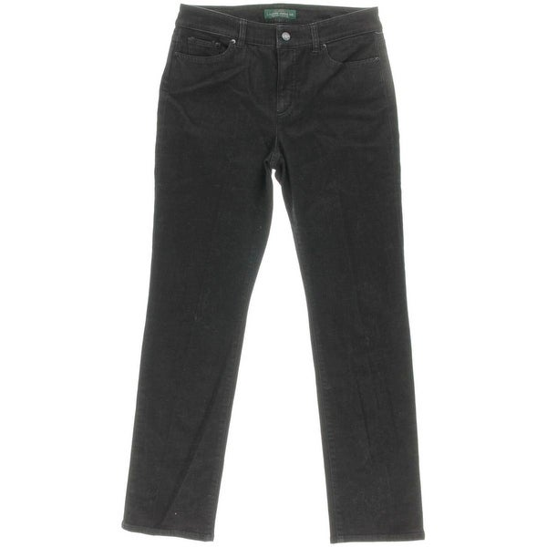 LRL Lauren Jeans Co. Womens Heritage Straight Leg Jeans Classic Slimming Fit