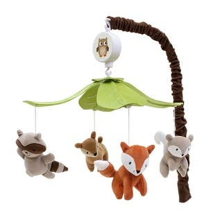 Lambs Ivy Multicolor Woodland Tales Musical Baby Crib Mobile