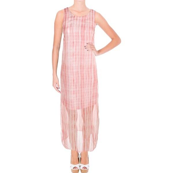c8d4995049 Shop Vince Camuto Womens Petites Maxi Dress Chiffon Striped - Free ...