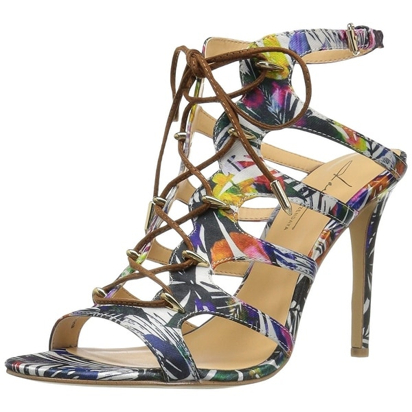 Daya by Zendaya Womens Milo Fabric Open Toe Special Occasion Strappy Sandals