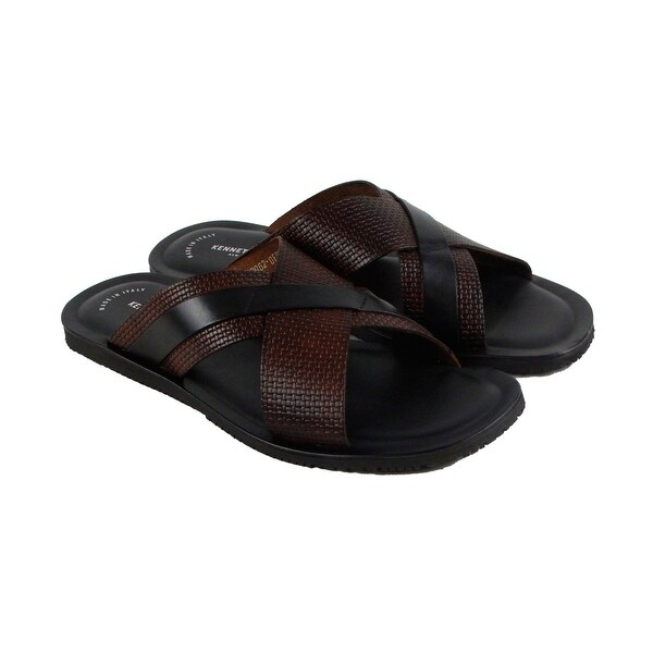 Kenneth Cole New York Design 108395 Mens Brown Flip Flop Sandals Shoes