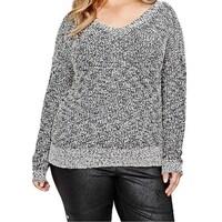 8433ceb6ade Shop Ivanka Trump NEW Black Women s Size 2X Plus Windowpane Sweater ...