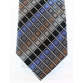 Kenneth Cole Reaction NEW Blue Men's Silk Geometric Print Neck Tie