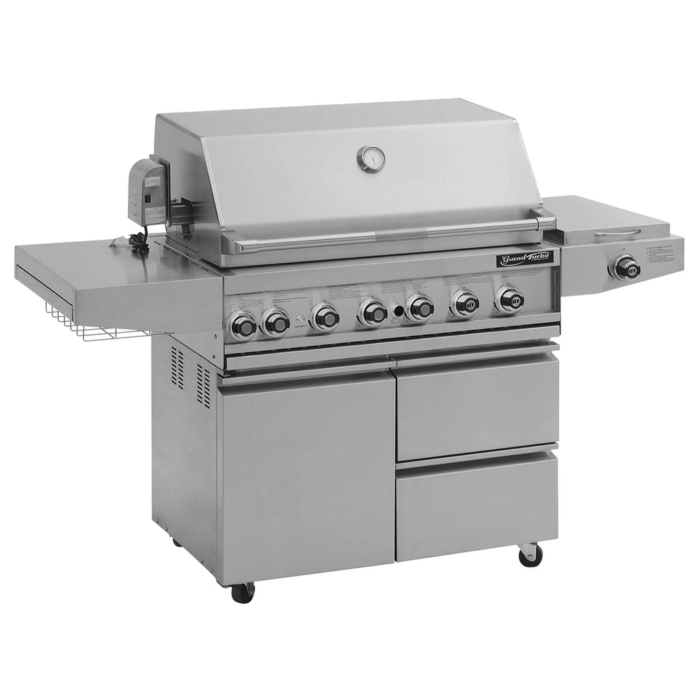 Barbeques Galore 2017 Grand Turbo 38 Freestanding Gas Grill Overstock 15279230