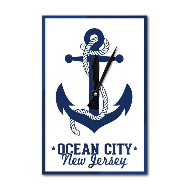 Shop Ocean City Nj Navy Anchor Design Lp Artwork Acrylic Wall