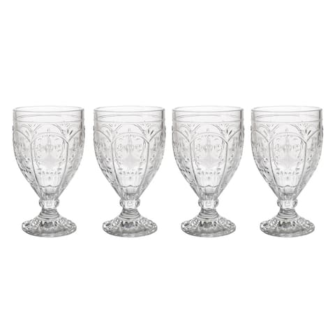 Fitz and Floyd Trestle Clear Goblet (Set of 4)