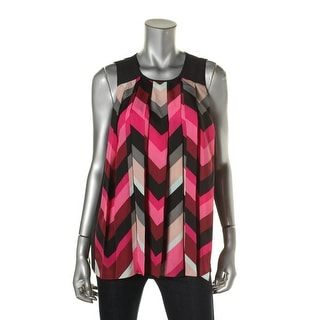 Vince Camuto Womens Pleated Pattern Blouse