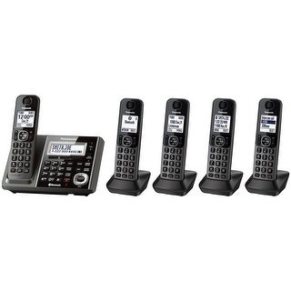 Panasonic KX-TGF375S DECT 6.0 Landline with 5 Cordless Handsets (Refurbished)