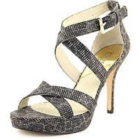 Michael Kors Womens Evie Open Toe Ankle Strap Platform Pumps