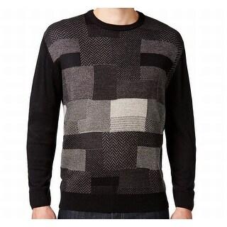 Weatherproof NEW Gold Texture-Blocked Men Size Small S Crewneck Sweater