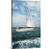 Premium Thick-Wrap Canvas entitled Sailboat sailing in water