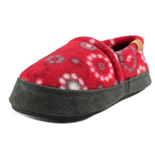 Acorn Polar Moc Youth Round Toe Canvas Red Slipper