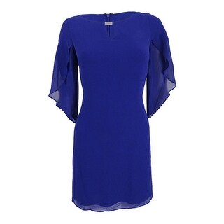 Jessica Howard Women's Petite Keyhole Shift Dress - cobalt