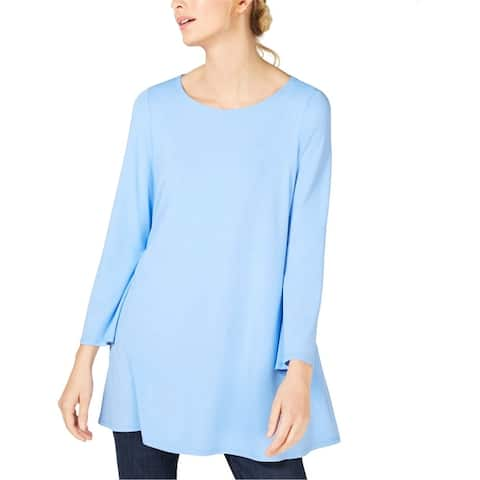 Eileen Fisher Womens Solid Tunic Blouse