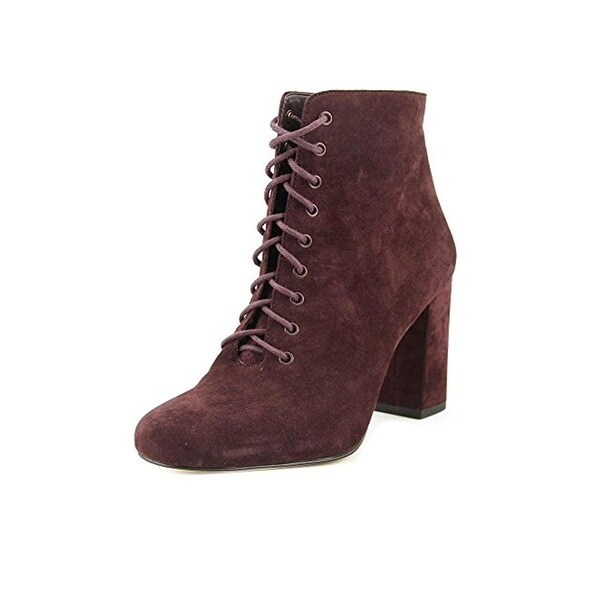 424 Fifth Womens Gianetta Ankle Boots Suede Block