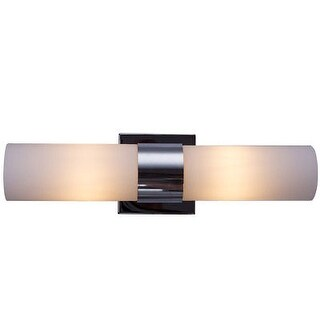 Costway 2-Light LED Vanity Fixture Polished Chrome Wall Sconces Lighting Bathroom