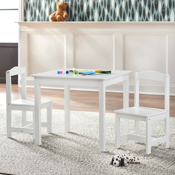 Simple Living White 3-piece Hayden Kids Table/Chair Set. Opens flyout.