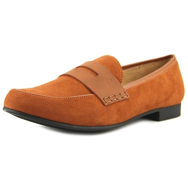 Circus by Sam Edelman Tanner Women Round Toe Canvas Brown Loafer
