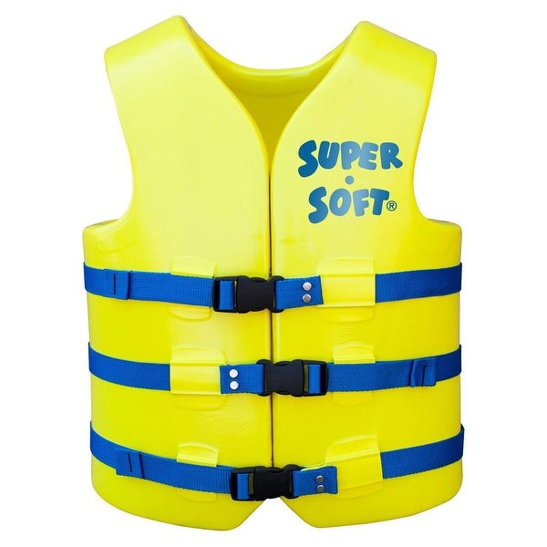 "48"" Super Soft Adult XXL Yellow USCG Approved Vests - N/A"