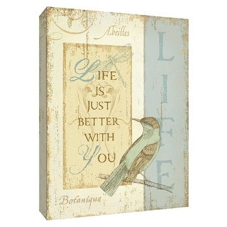 """PTM Images 9-154438  PTM Canvas Collection 10"""" x 8"""" - """"Secret Garden II"""" Giclee Sayings & Quotes Art Print on Canvas"""