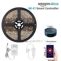 16.4ft Led Strip Light Work with Alexa, Flexible Color Changable RGB 36W Lighting Kit