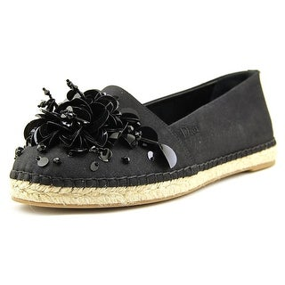 Christian Dior Sunset Women Round Toe Canvas Black Espadrille