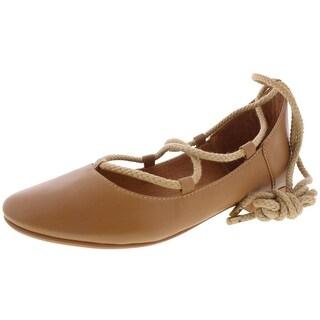 Kelsi Dagger Brooklyn Womens Deandra Ballet Flats Leather Round Toe
