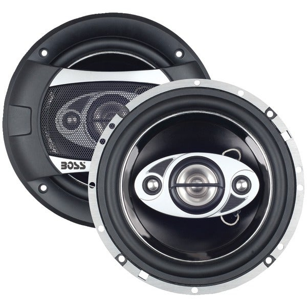 "Boss Audio P65.4C Phantom Series Speakers With Electroplate-Injection Cones (6.5"")"