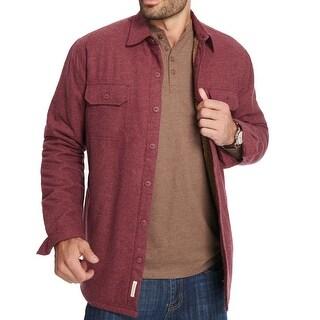 Weatherproof Vintage Red Mens Size Medium M Fleece Lined Jacket