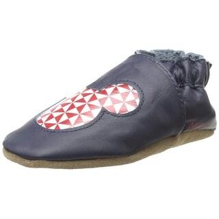 Robeez Disney Mickey Geo Leather Flat Crib Shoes
